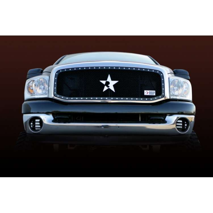 06-08 Dodge 2500/3500 RBP RX Black One Piece Grille